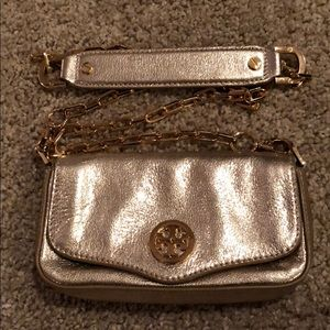 Small Gold Tory Burch Crossbody